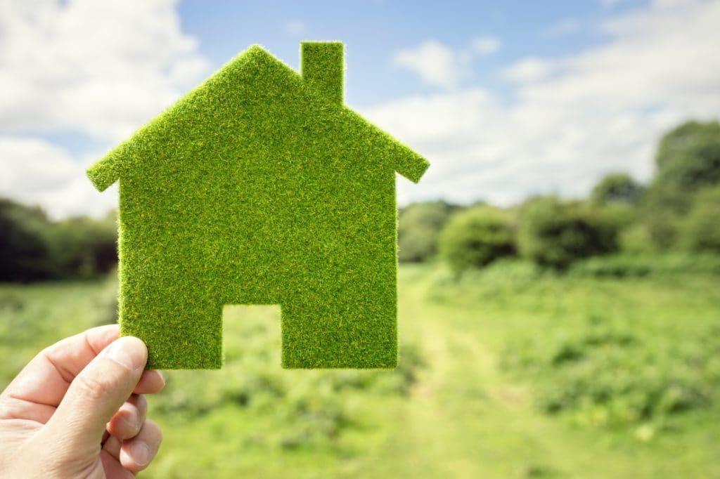 Green eco house environmental background